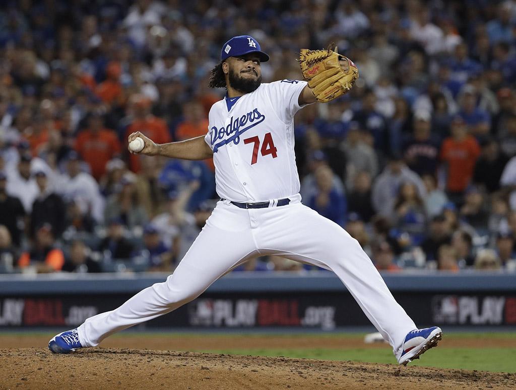 Kenley Jansen Los Angeles Dodgers Worlds Series Game 6