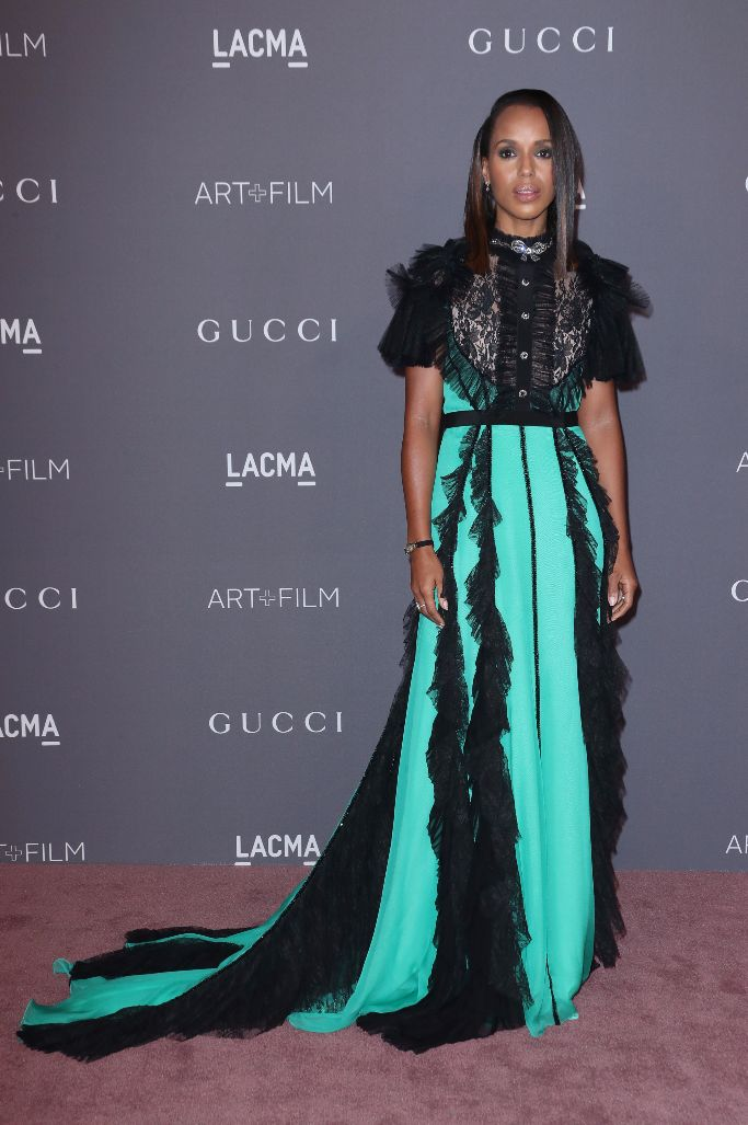 kerry washington wearing gucci at the lacma art and film gala