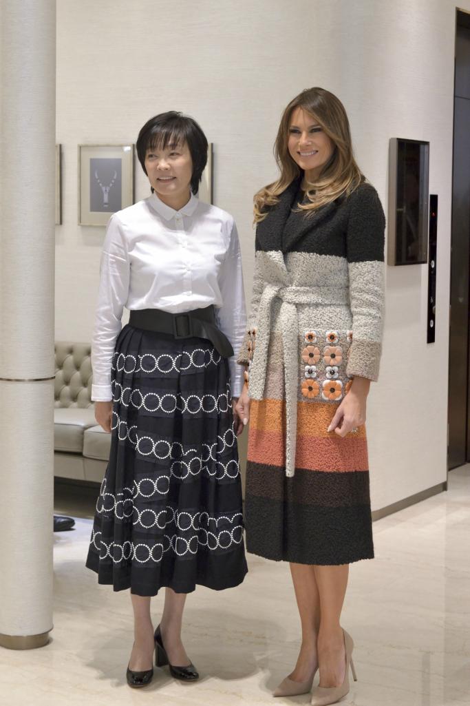 Melania Trump and Japanese First Lady Akie Abe