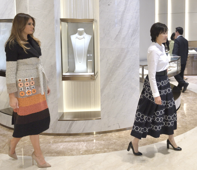 melania trump and akie abe in japan