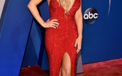 Celebs Rocking Red at the CMAs