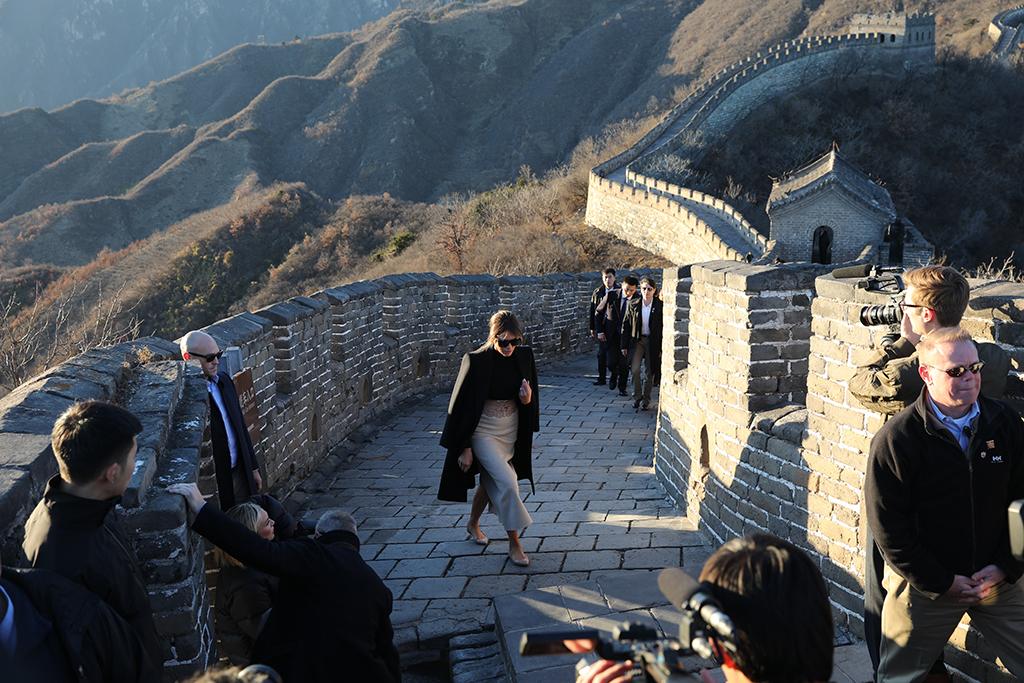 Melania Trump, China, Great Wall