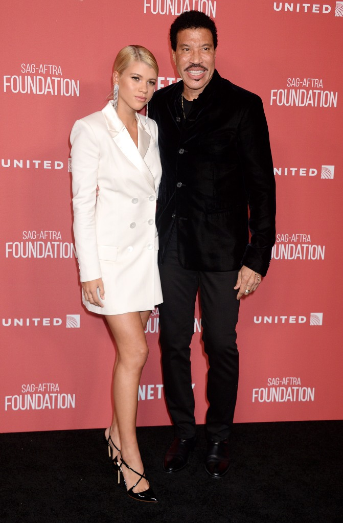 Sofia Richie makes an appearance with her dad, Lionel.