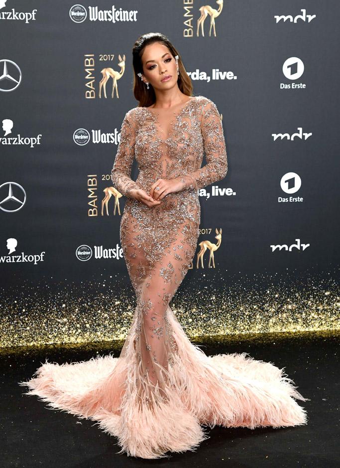 Rita Ora, wearing a Zuhair Murad gown at bambi awards