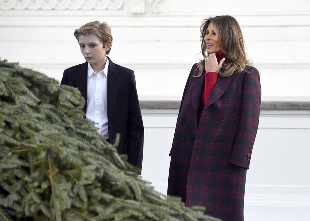 Melania Trump, Barron Trump, White House Christmas