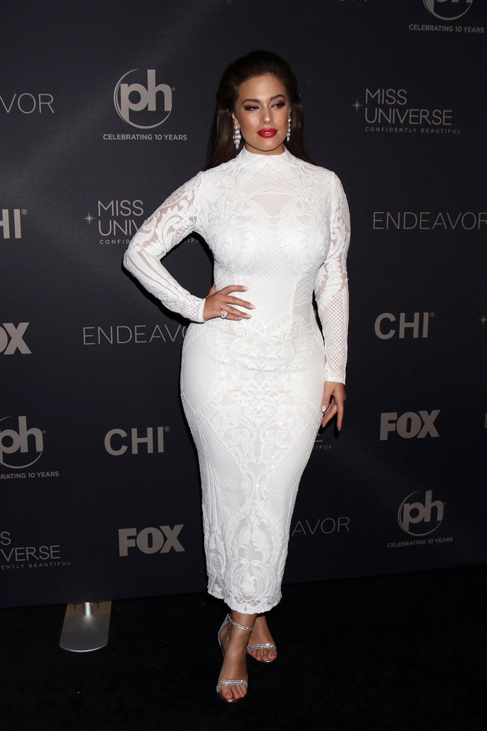 Ashley Graham, miss universe 2017, michael costello dress