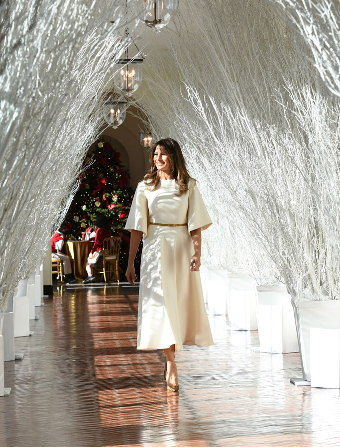 melania trump white house christmas decorations 2017
