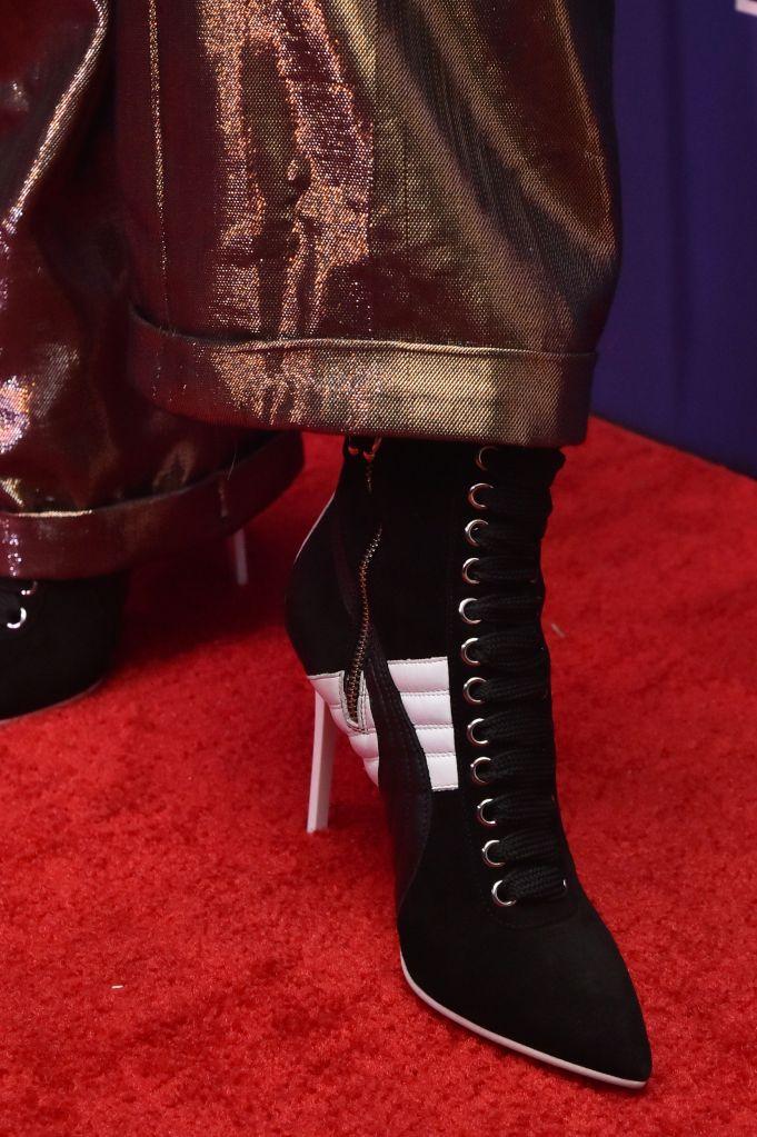 Skylar Diggins, shoe detail, attends the Footwear News Achievement Awards at the IAC on November 28, 2017 in New York31st Annual Footwear News Achievement Awards, Arrivals, New York, USA - 28 Nov 2017