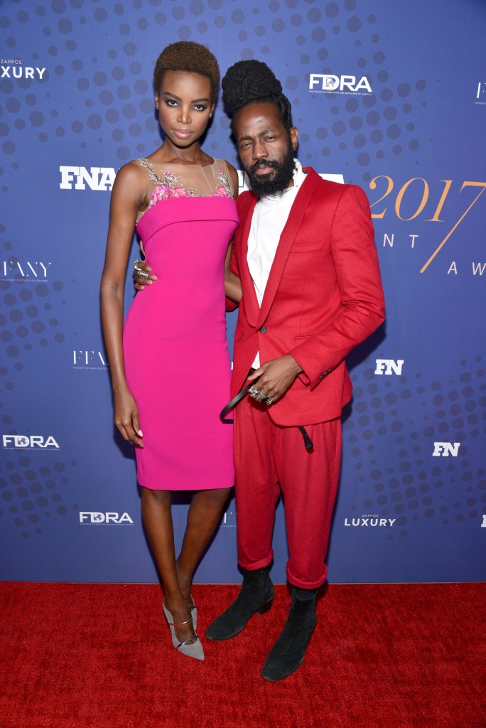 Maria Borges and Roy Luwolt31st Annual Footwear News Achievement Awards, Arrivals, New York, USA - 28 Nov 2017
