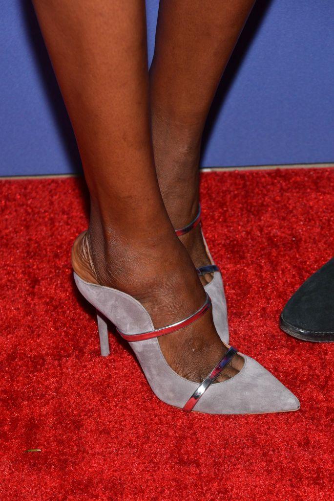 Maria Borges, shoe detail31st Annual Footwear News Achievement Awards, Arrivals, New York, USA - 28 Nov 2017
