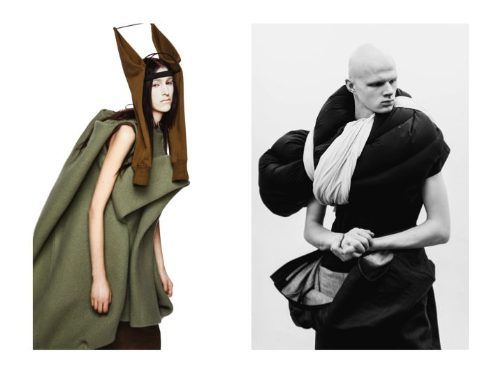 Rick Owens fashion designs to be displayed at the exhibition.