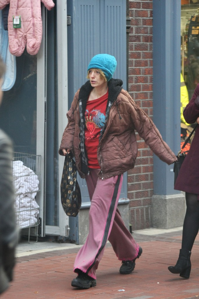Blake Lively on set of The Rythym Section in Dublin, Ireland.