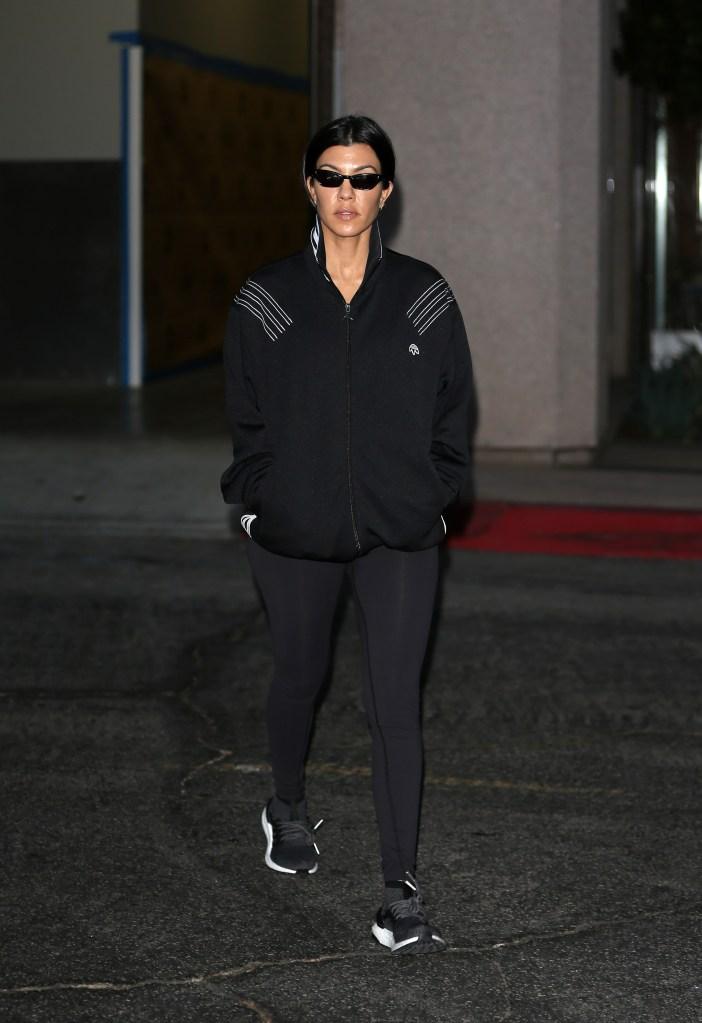 Kourtney Kardashian leaving her class in Los Angeles.
