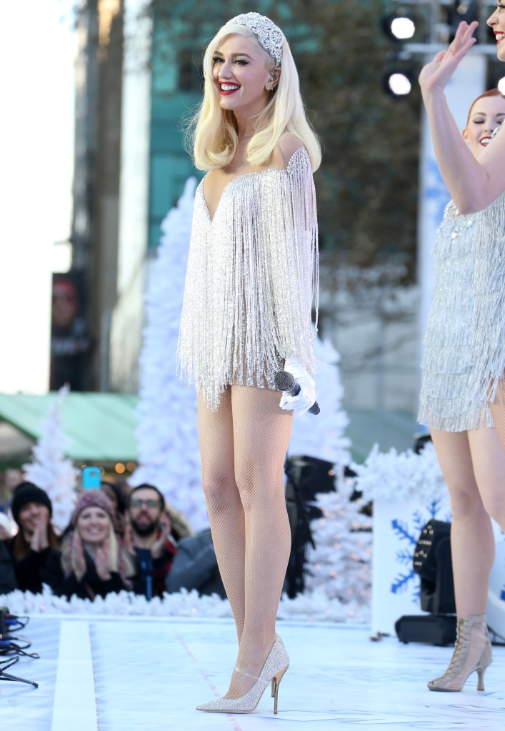 Gwen Stefani performs for the Macy's Thanksgiving Day Parade in New York.