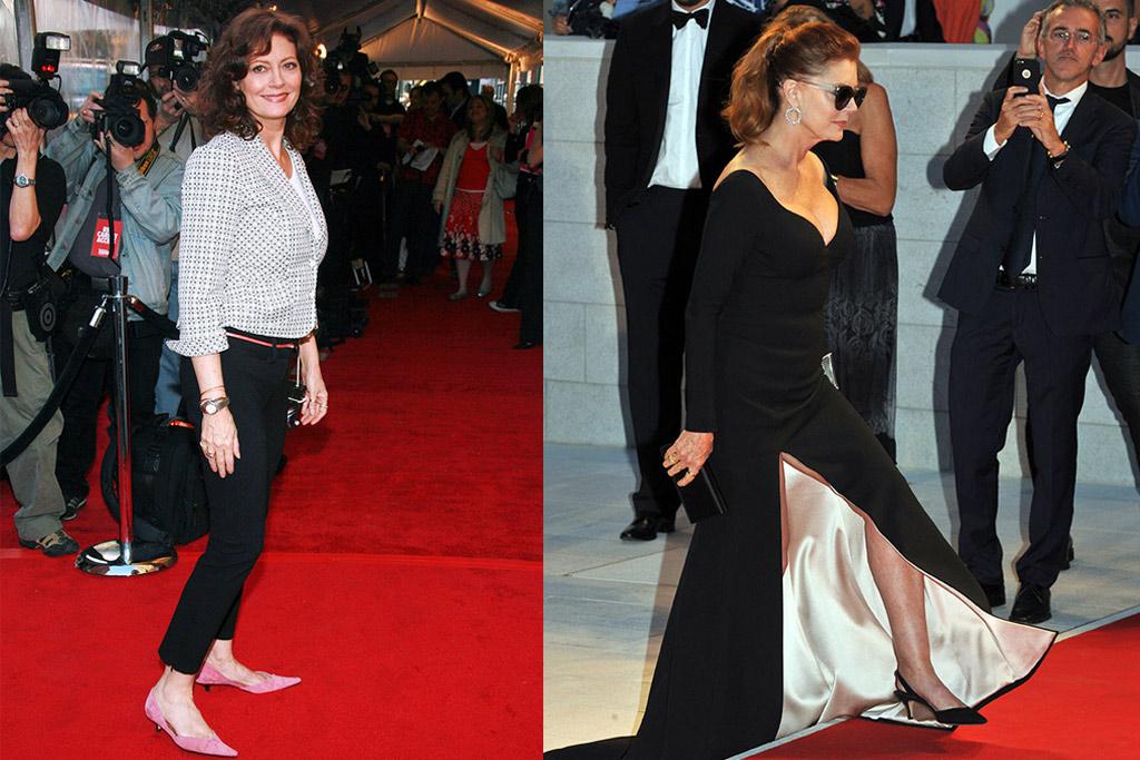susan sarandon, venice film festival, kitten heels