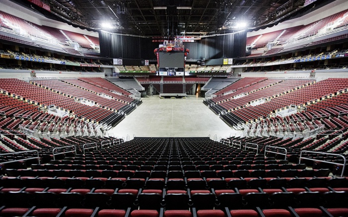 The KFC Yum! Center where Muhammad Ali's public funeral service on Friday will be held sits empty, in Louisville, Ky. The president of Turkey and king of Jordan joined the long line of world leaders, religious figures and superstars set to speak at Ali's funeral FridayMuhammad Ali Memorial, Louisville, USA