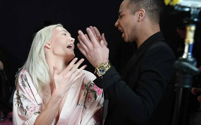 Karlie Kloss and Olivier Rousteing Victoria's Secret.