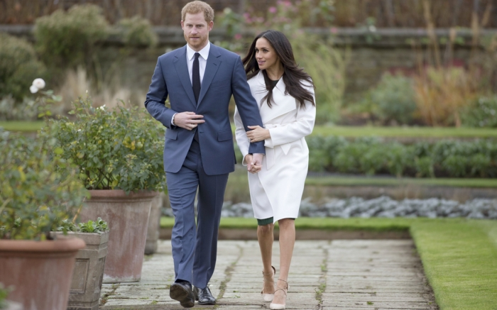 meghan markle prince harry engagement announced in nude heels footwear news https footwearnews com 2017 fashion celebrity style meghan markle prince harry engagement 460494