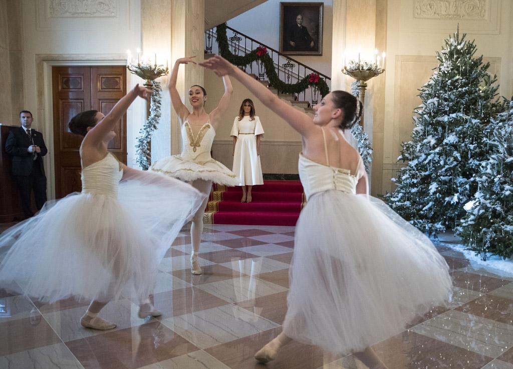 white house decorations, melania trump