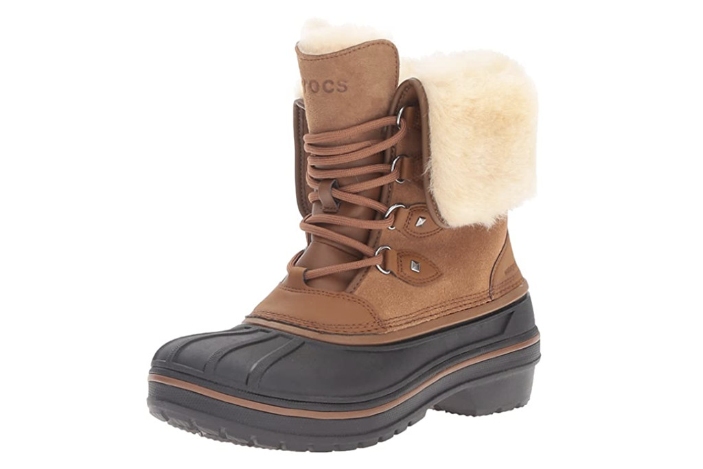 crocs boots, best winter boots for women, womens winter boots