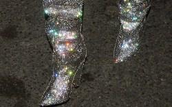 Saint Laurent sparkle Niki boots, ysl