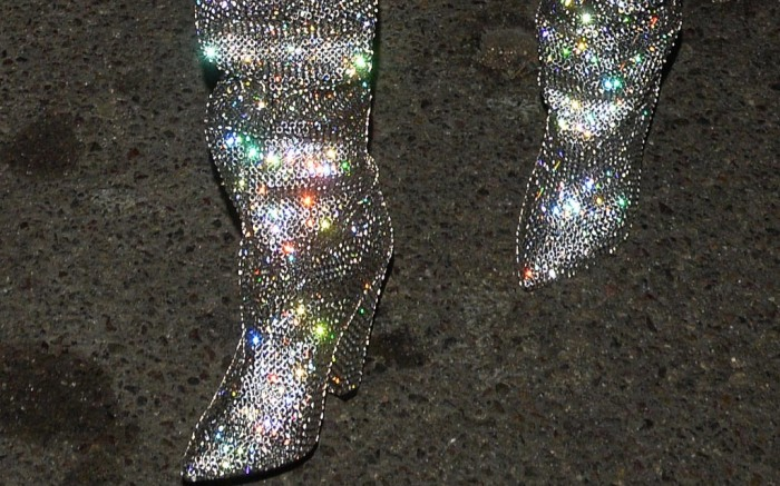 Saint Laurent sparkle Niki boots, ysl