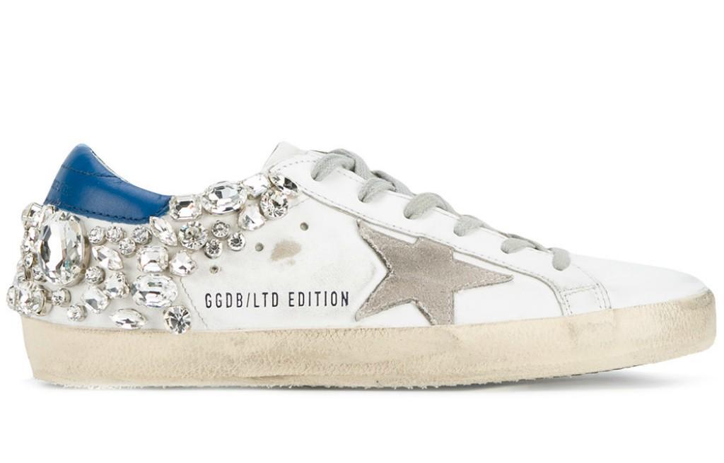 golden goose deluxe brand crystal embellished 'Superstar' sneakers