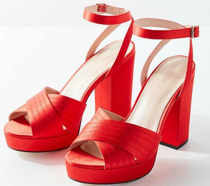urban outfitters Viv Cross-Strap Platform Heel