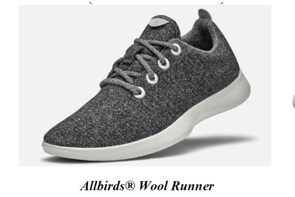The Allbirds wool runner design.