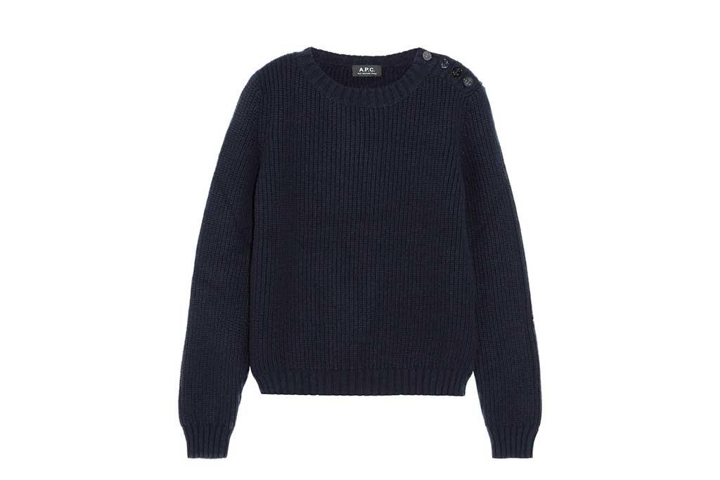 APC navy sweater