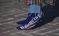 Balenciaga logo boot