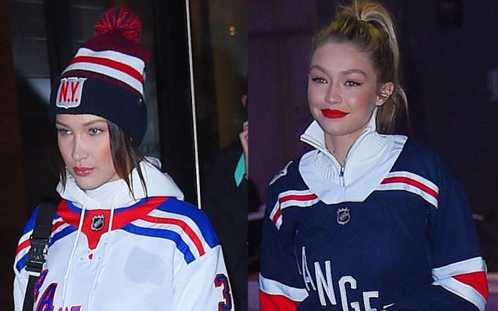 Bella hadid, Gigi Hadid, NY Rangers