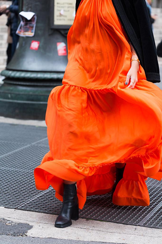 Paris fashion week, street style, spring 2018 shows, black booties