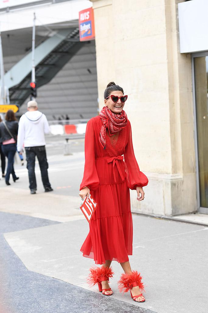Giovanna Battaglia, street style, paris fashion week, 2017, spring '18 shows