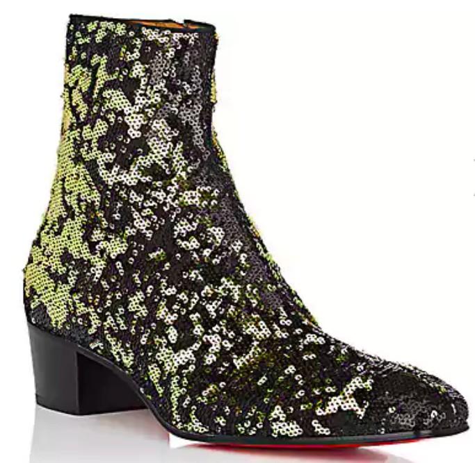 Christian Louboutin Huston Paillette-Embellished Boot