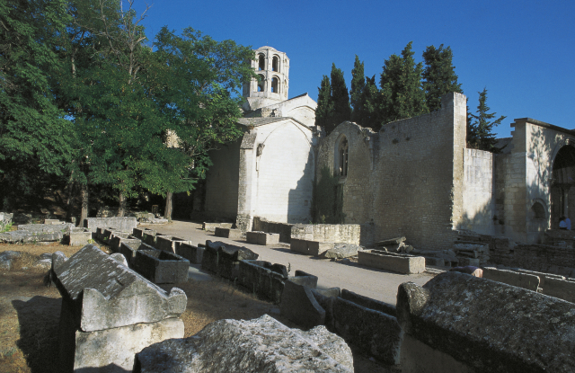 The Alyscamps Roman necropolis.