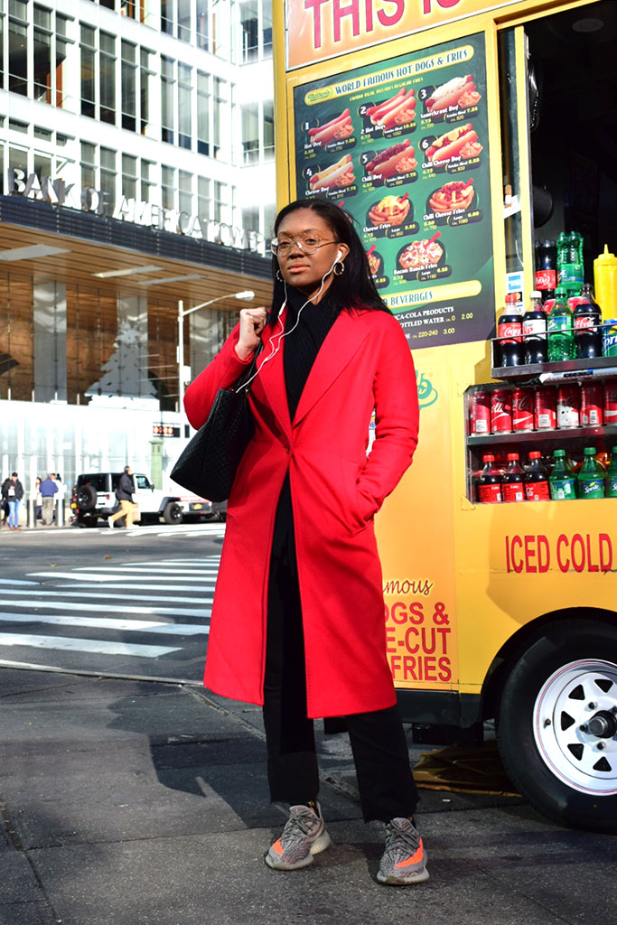 new york, commuter, street style
