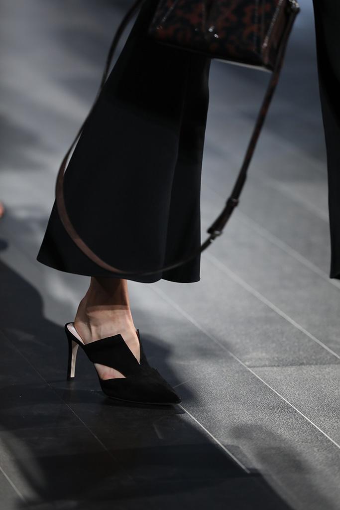 Model on the catwalk, shoe detailCushnie et Ochs show, Runway, Spring Summer 2018, New York Fashion Week, USA - 08 Sep 2017