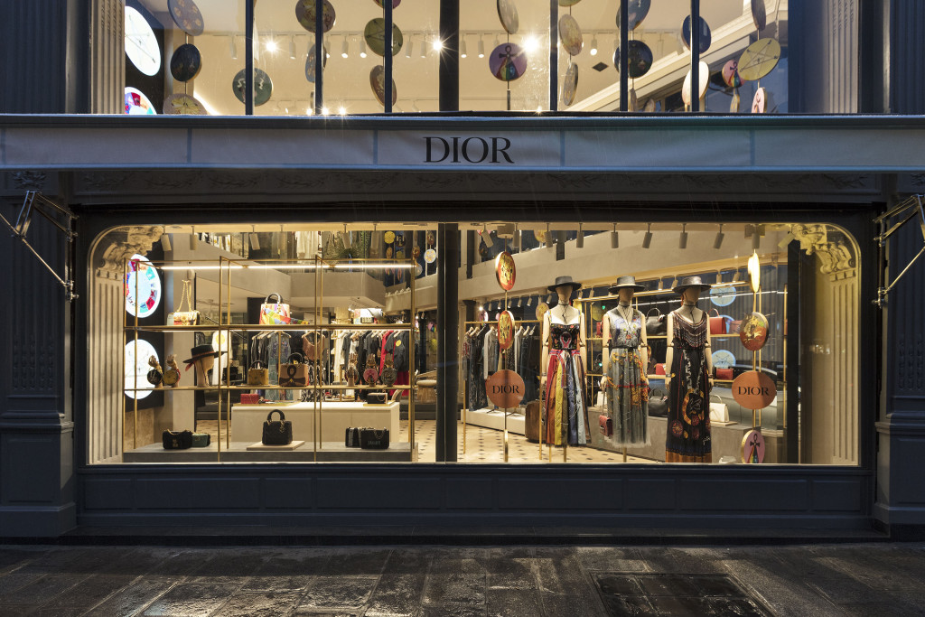 The Christian Dior Rue Saint Honoré pop up store.