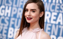 Lily Collins brightened the red carpet