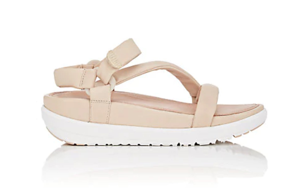 FitFlop Padded Leather Ankle-Strap Sandals