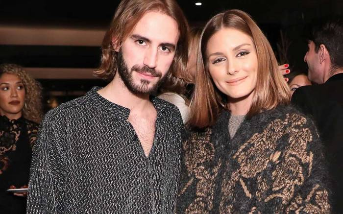 Nicolo Beretta and Olivia Palermo at the Barneys x Giannico launch party.