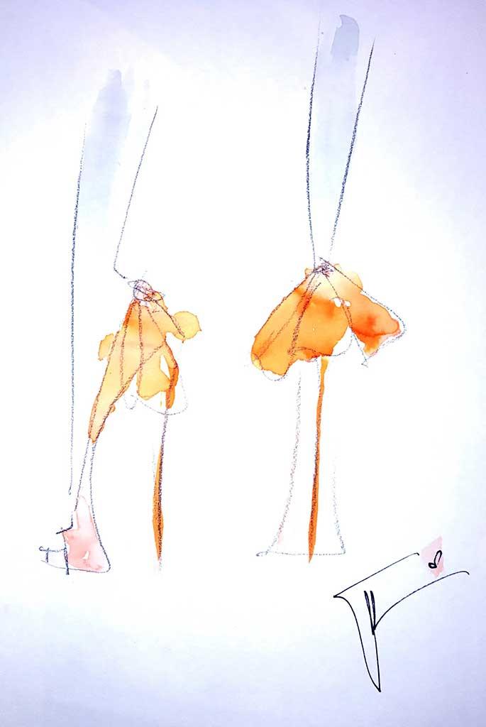 Giuseppe Zanotti's fantasy wedding shoe sketch for Meghan Markle.