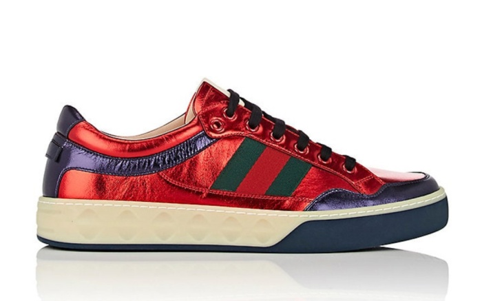 Gucci More Metallic Leather Sneakers