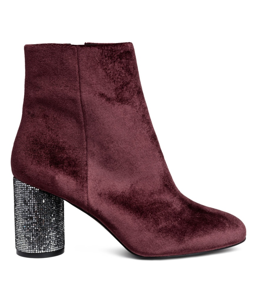 H&M sequin heel bootie