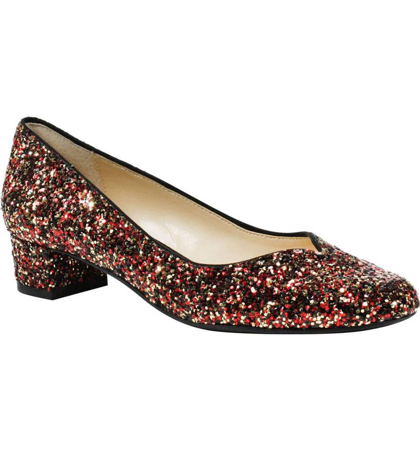 J. Renee glitter block heel