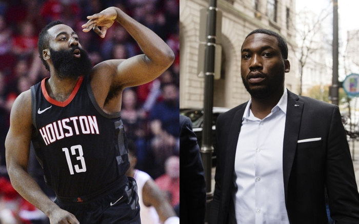 James Harden and Meek Mill