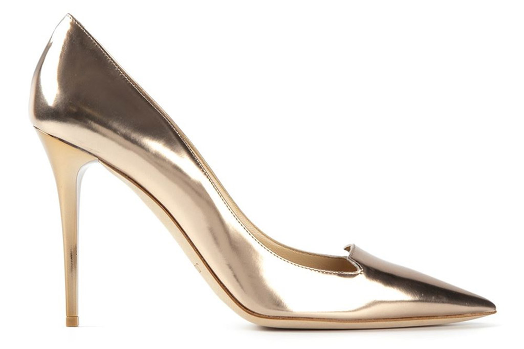 Jimmy Choo Gold Shoes to Rent