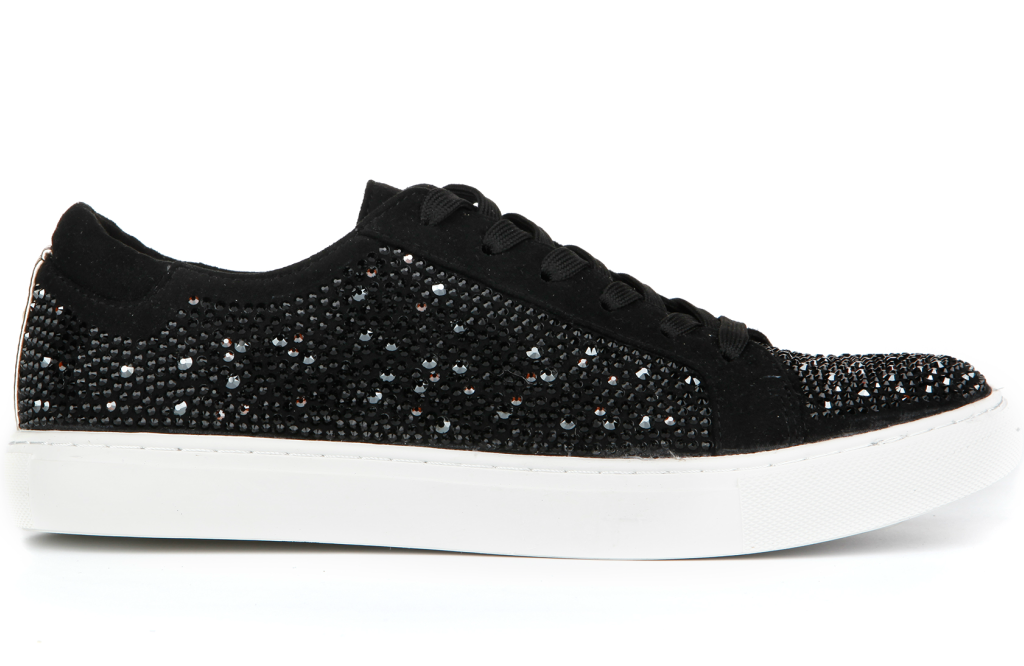 kenneth cole kam sneaker with Swarovski crystals