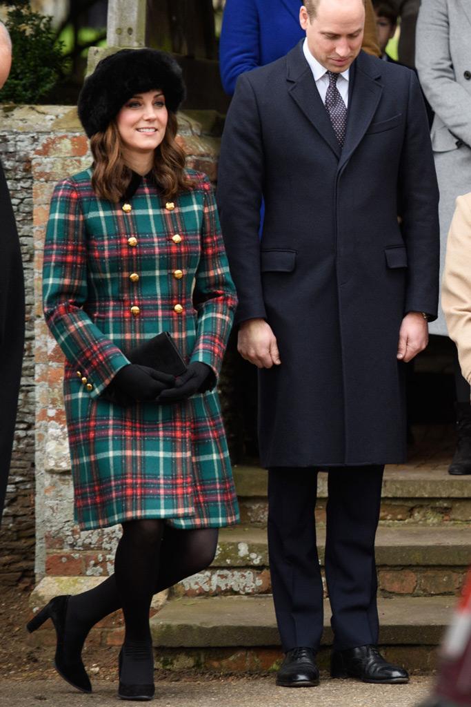 kate middleton, christmas day, church, prince william
